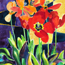 Bold Quilted Tulips by Kathy Braud