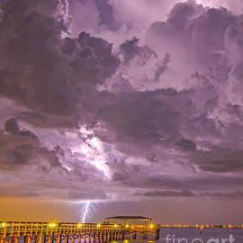 Bolt Over Pier by Stephen Whalen