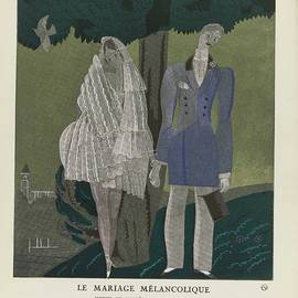 Charles Martin - Bon Ton Gazette, 1921 - No. 2, Pl. 10 The Melancholy Marriage  Modes and Manners of Torquate, Charle