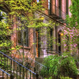 Joann Vitali - Boston Brownstones in Spring - Back Bay