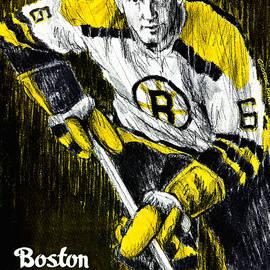 Boston Bruins 1963 Vintage Program by John Farr