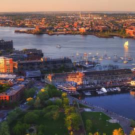 Joann Vitali - Boston Cityscape - Boston Harbor And The North End