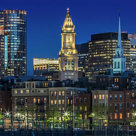 BOSTON Evening Skyline of North End and Financial District - Melanie Viola