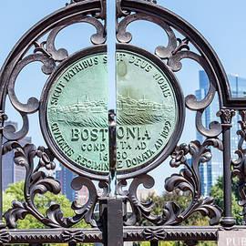 Boston Garden Gate Detail by Val Black Russian Tourchin