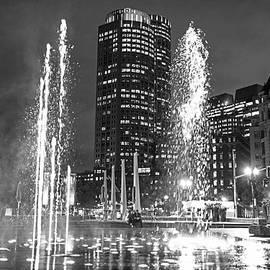 Toby McGuire - Boston Greenway Fountain Boston MA Splash Black and White