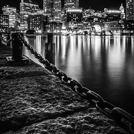 Kristen Wilkinson - Boston Harbor at Night
