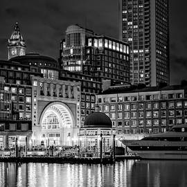 Boston Harbor Bw by Susan Candelario