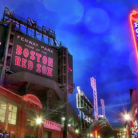 Joann Vitali - Boston Red Sox Fenway Park at Night