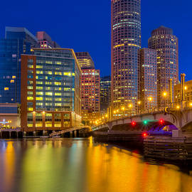 Susan Candelario - Boston Skyline Blue Hour