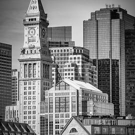 BOSTON Skyline North End and Financial District - Monochrom - Melanie Viola