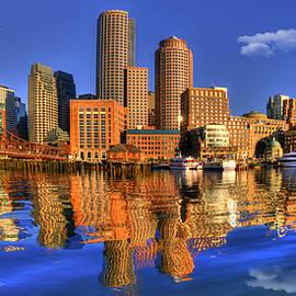 Joann Vitali - Boston Skyline Panoramic from Fan Pier