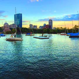 Joann Vitali - Boston Skyline Sunset Panoramic