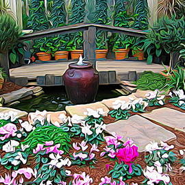 Rose Santuci-Sofranko - Botanical Gardens Bougainvillea Garden Soft Look Effect