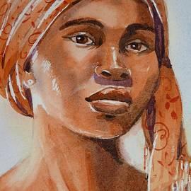 June Walker - Botswana woman wearing head wrap