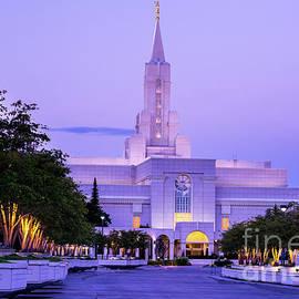 Gary Whitton - Bountiful Mormon Temple Sunrise - Utah