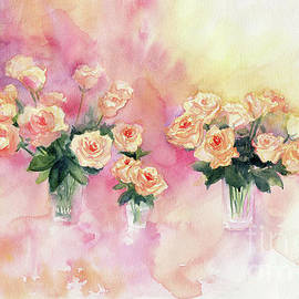 Melly Terpening - Bouquet of Roses Abstract Watercolor