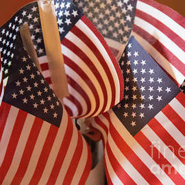 Linda Phelps - Bouquet of US Flags