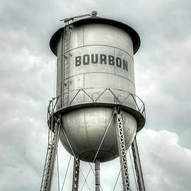 Gregory Ballos - Bourbon Whiskey Water Tower and Cloudy Skies