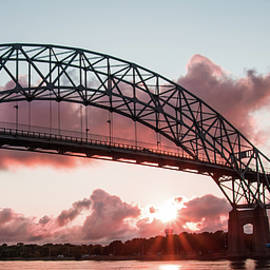 Tran Boelsterli - Bourne Bridge over the Cape Cod canal at sunset