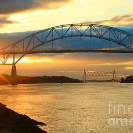 Bourne Bridge Sunset by Amazing Jules