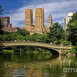 Bow Bridge In Central Park by Franz Zarda