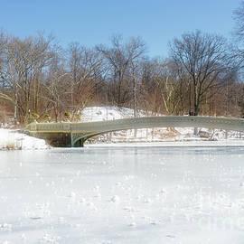 Ann Garrett - Bow Bridge in Central Park in the Snow