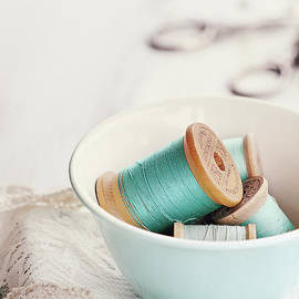Stephanie Frey - Bowl of Vintage Spools of Thread