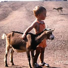 Boy And A Goat by Rosanne Licciardi