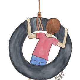 Boy On Swing 1 by Betsy Hackett
