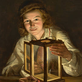 Boy with a Stable Lantern - Ferdinand Georg Waldmuller