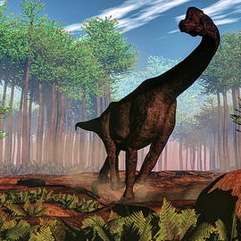 Brachiosaurus dinosaur - 3D render by Elenarts - Elena Duvernay Digital Art
