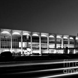 Brasilia - Itamaraty Palace - Black And White by Carlos Alkmin