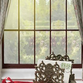 Amanda Elwell - Brass Letter Rack In The Window