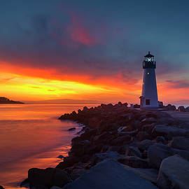 Break of Day at Walton Lighthouse by Morgan Wright