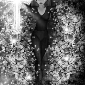 Raphael Lopez - Breaking Through Darkness - Black and White Fantasy Art