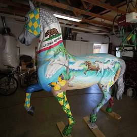 Breeders Cup Fiberglass Horse Left by Tish Wynne