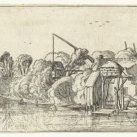 Esaias van de Velde - Brewery on the banks of a river, Esaias van de Velde, 1614 - 1617