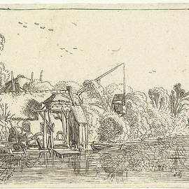 Esaias van de Velde - Brewery on the banks of a river, Esaias van de Velde, 1614
