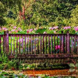 Bridge In A Lotus Pond by Jerry Gammon