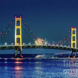 Norris Seward - Bridge Mackinac Fireworks -1823