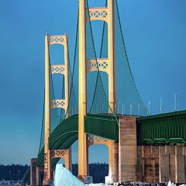 Norris Seward - Bridge Mackinac Winter Ice -1002   Pure Michigan