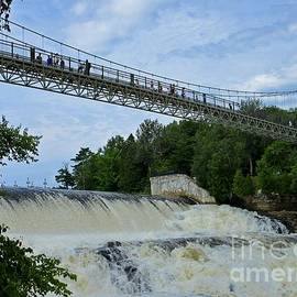 Bridge over Montmorency Falls by Crystal Loppie