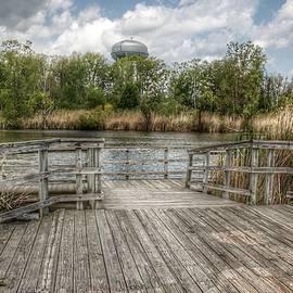 3001 - Bridge Overlooking Water Tower Park In Lapeer by Sheryl Sutter