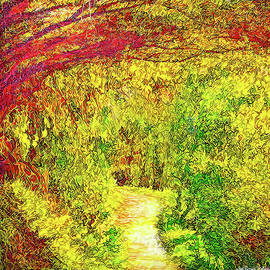 Joel Bruce Wallach - Bright Afternoon Pathway - Trail In Santa Monica Mountains