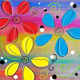 Bright Flowers Intertwined