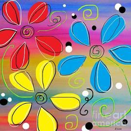 Bright Flowers Intertwined by Eloise Schneider Mote