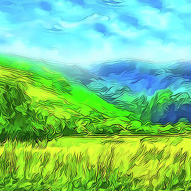Joel Bruce Wallach - Bright Green Meadow - Marin California
