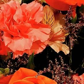 Neal Alicakos - Bright Orange Florals