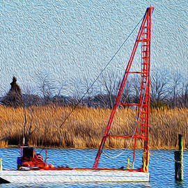Bright Paintery Barge by Dennis Dame