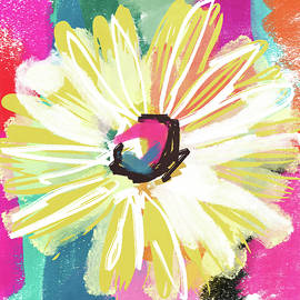 Bright Yellow Flower- Art by Linda Woods - Linda Woods